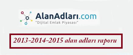 Alan adı ile ilgili tüm istatistiki bilgiler (2015-2014-2013)